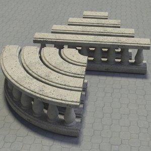 baluster set 3d model