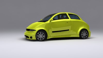 3d selian economy car renders model