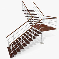 Modern Apartman Metal Wood Stairs
