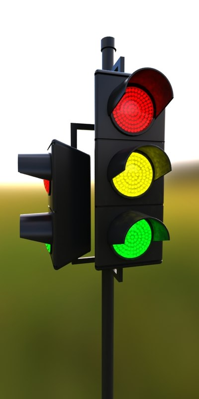 traffic light 3d obj