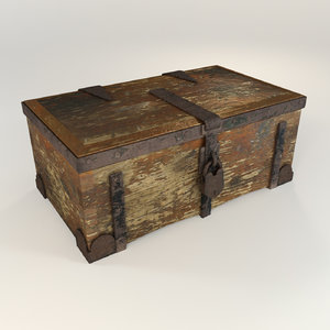 antique trunk 3d max
