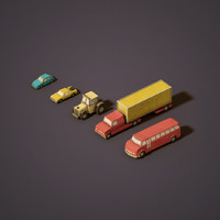 3d urban vehicles model