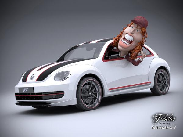 volkswagen maggiolino abt 3d model