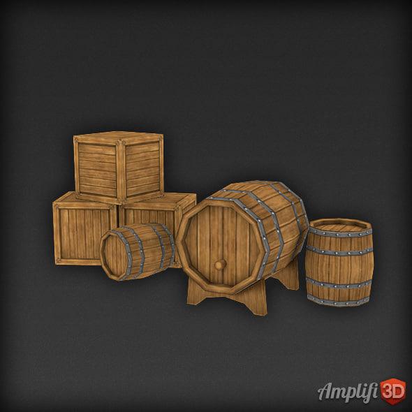 obj barrel cask