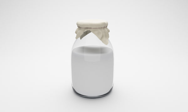 3d bottle milk model
