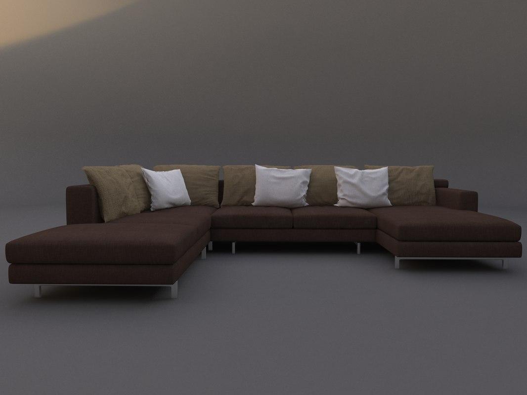 3ds max busnelli sofa taylor