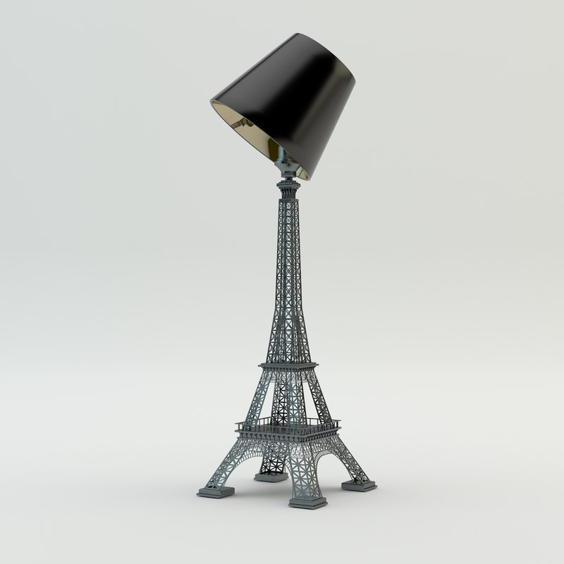 3d model eiffel tower lamp
