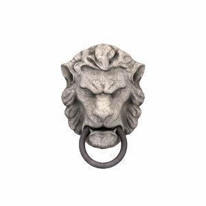 lion head door 3d model
