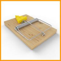 3d model mouse trap