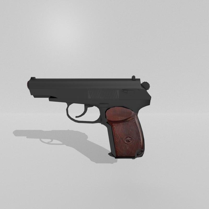 makarov pistol obj