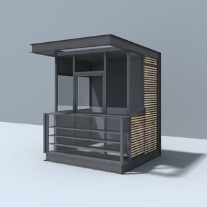 modern pavilion 3d model