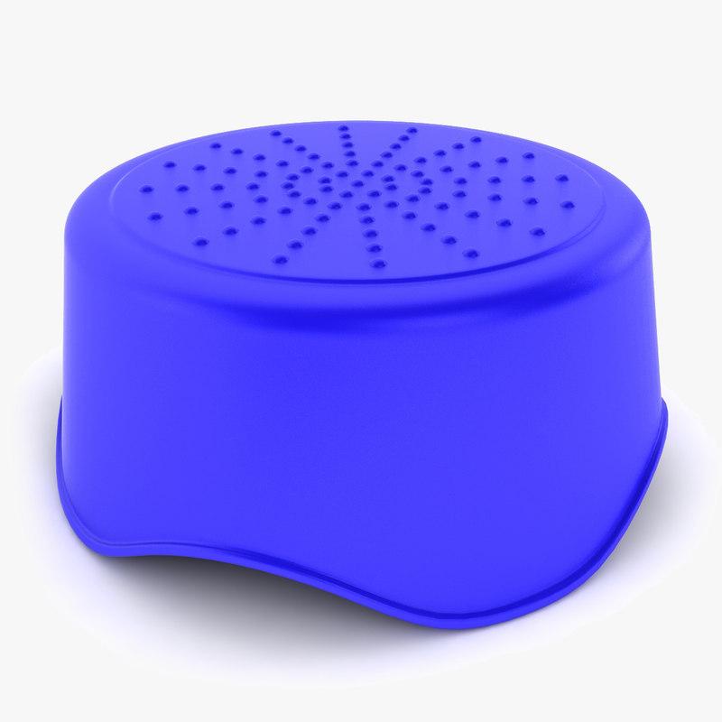plastic step stool 3d 3ds