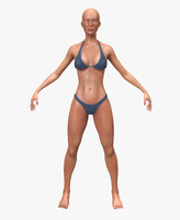 3d model girl woman female