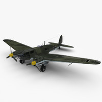 3d model of heinkel 111