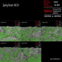 spring terrain mc-01 3d max