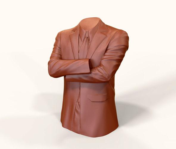 3d suit clothing print model