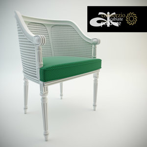 3d chair cabiate produce model