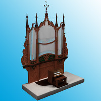 3d church organ model