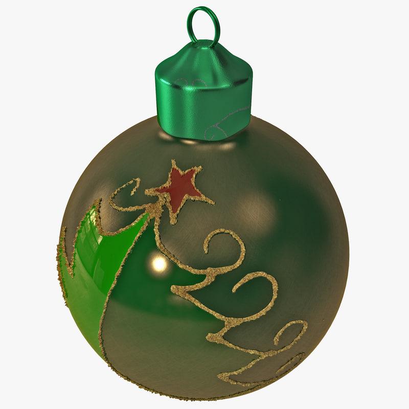 christmas ornament ball 3d max