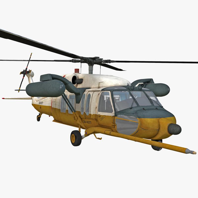 3d model mh-60 black hawk 2