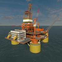 TLP ocean oil rig