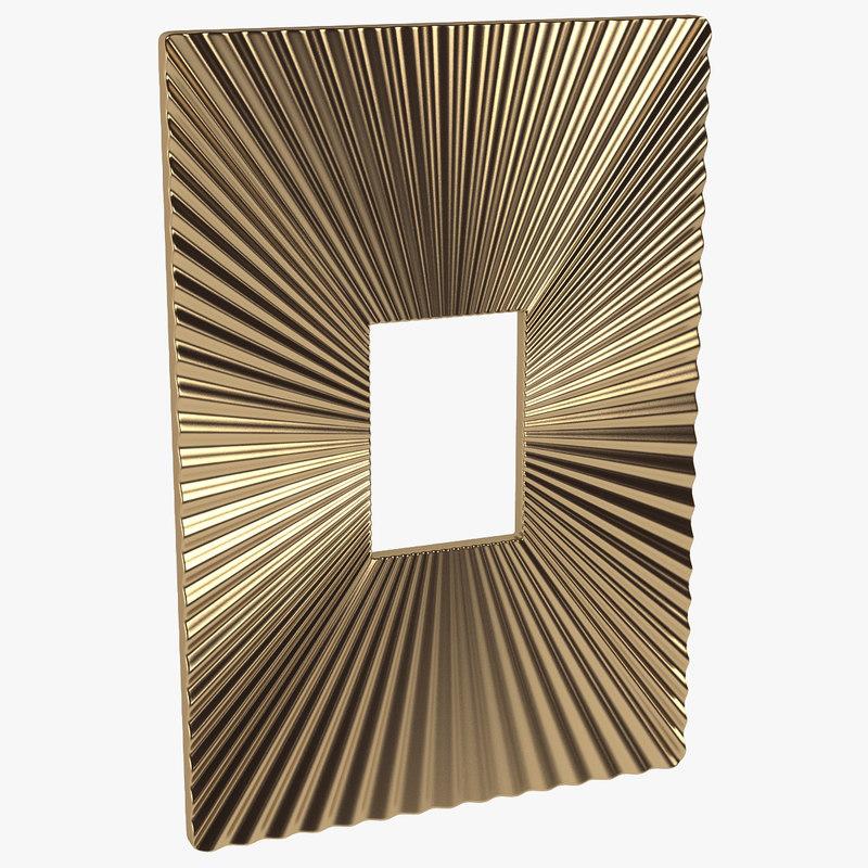 3d wall plaque metal model