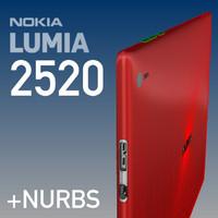 nokia lumia 2520 3d max