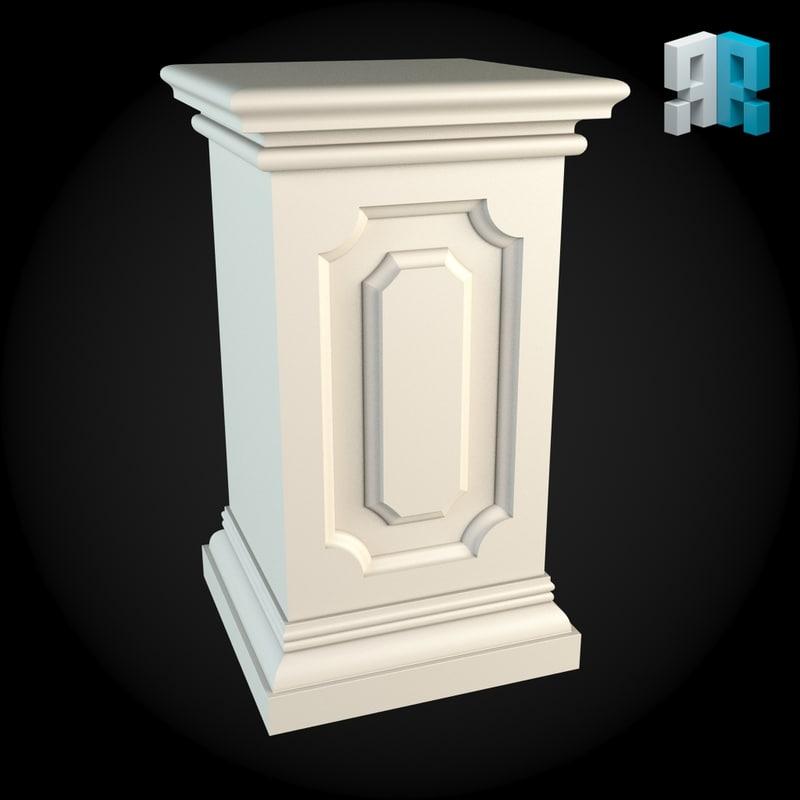 3d pedestal model