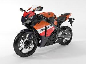 3d max bike cbr 1000 rr