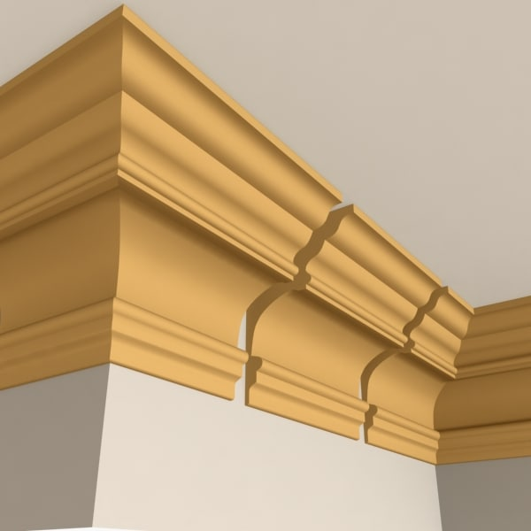 interior cornice molding 3d max