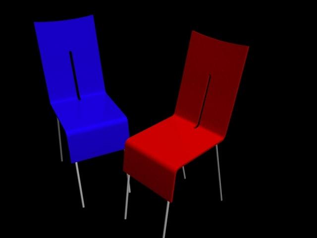 3d model chair decorative