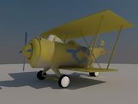 3d model airplane corncob