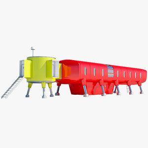 antarctic station juan carlos 3d model