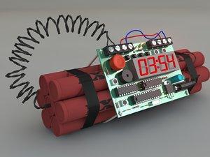 bomb 3d c4d