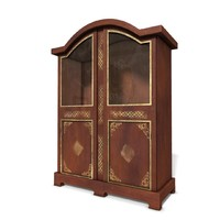 wood wooden bookcase 3d model