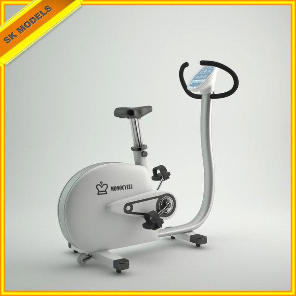 3d model exercise bike