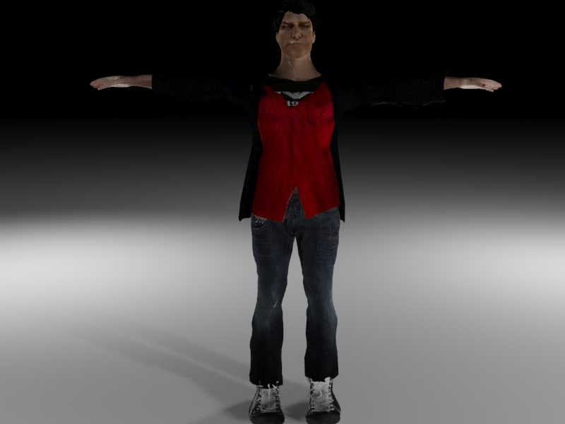 3d model hero action character