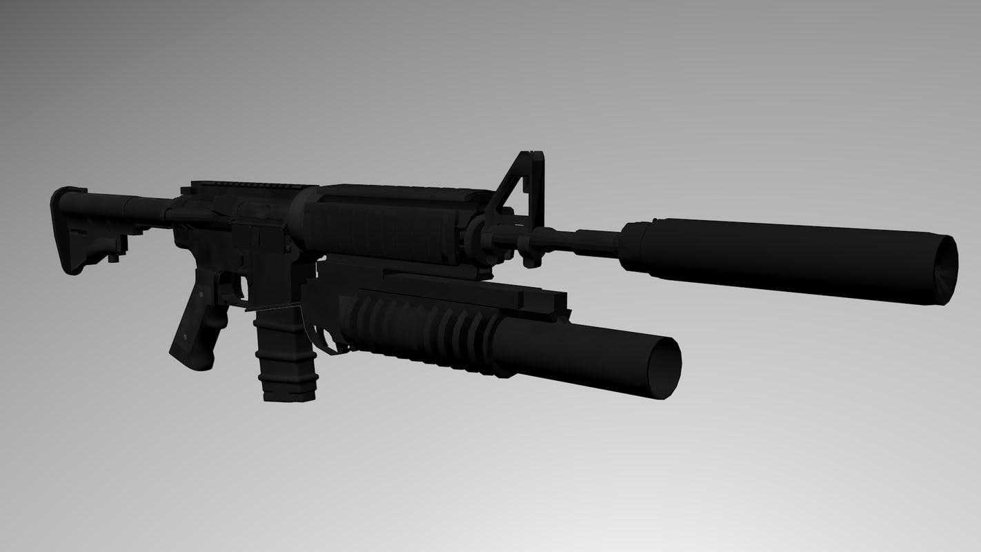 3ds colt m4a1 assault rifle