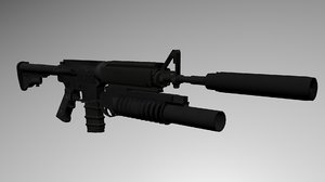 3ds colt m4a1 assault rifle