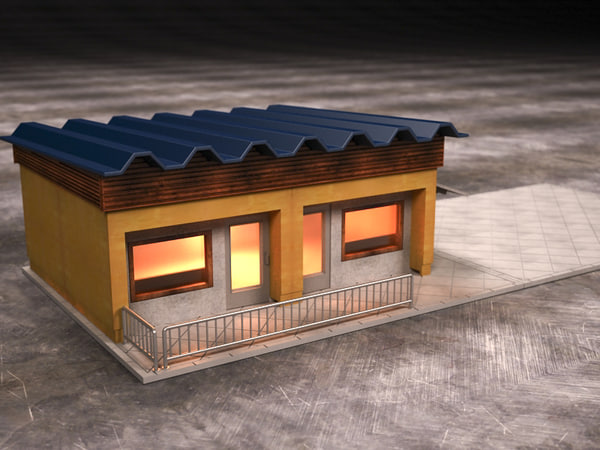 store grocery 3d model