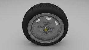 3d model lada wheel