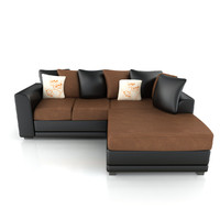 leather fabric sofa 3d model
