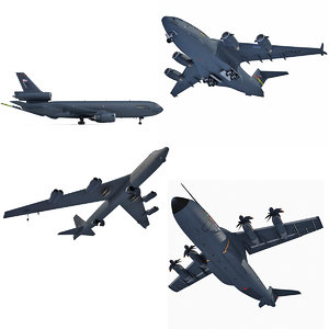 military airbus a400m aircraft 3d model