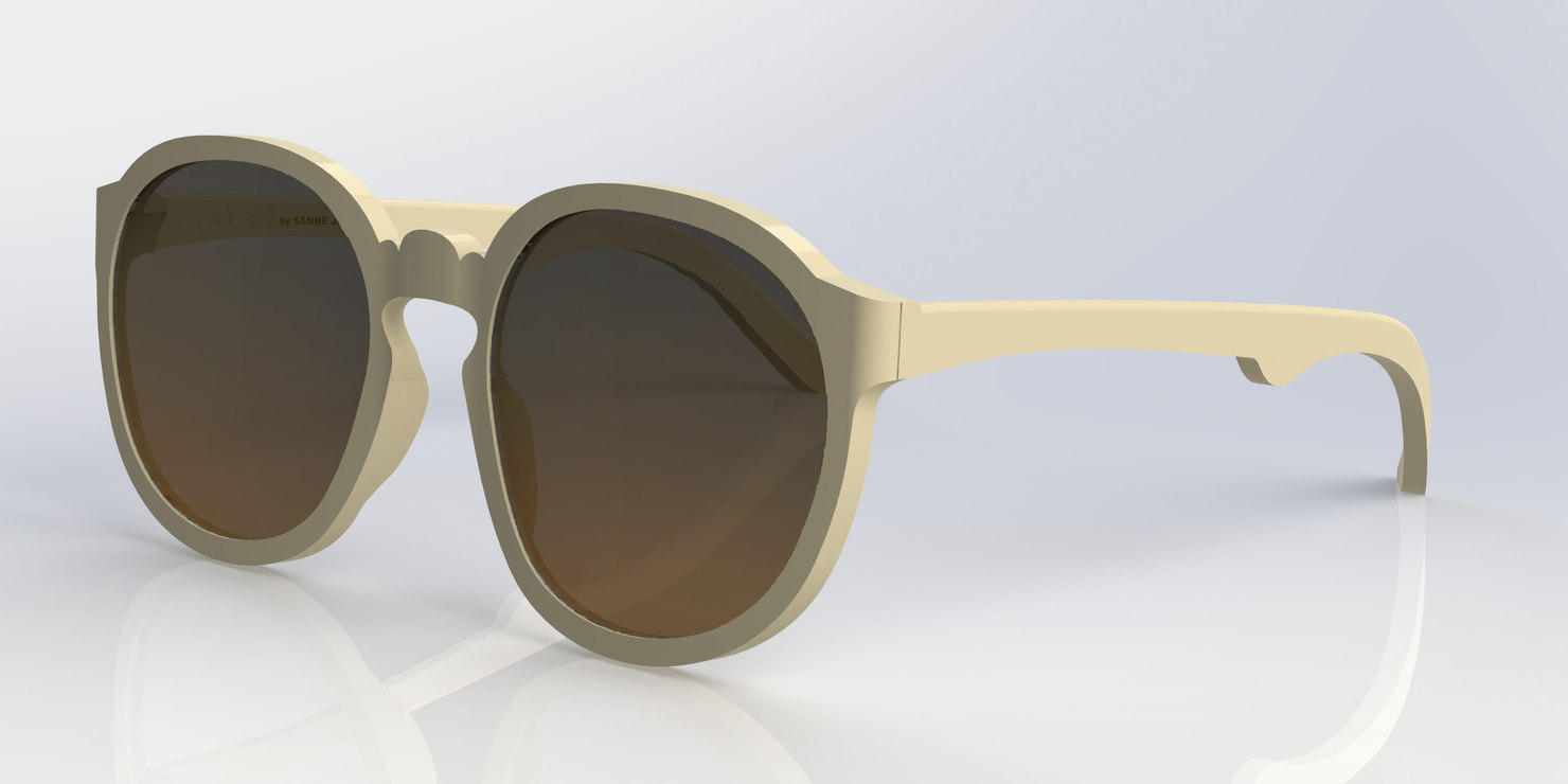 3d butterfly sunglass 3 model