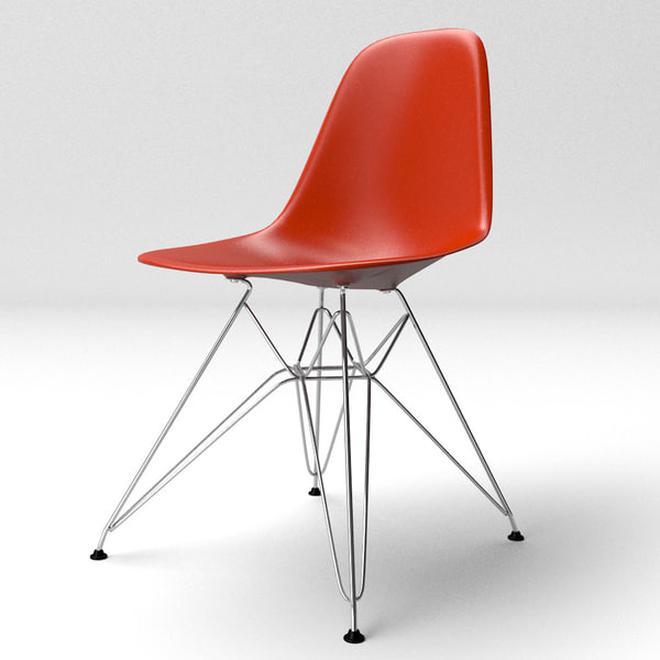 c4d eames molded plastic chair