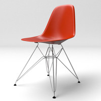 Eames Molded Plastic Chair with Wire Legs