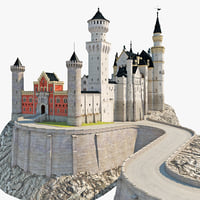 3d neuschwanstein castle germany model