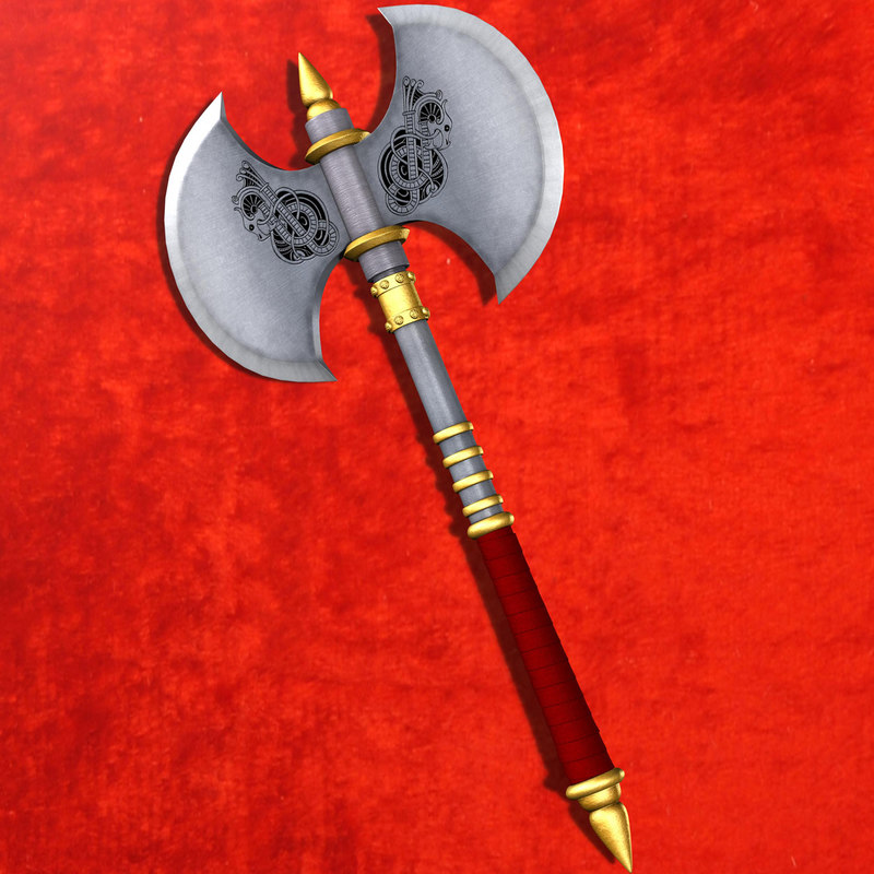 3d model nordic battle axe