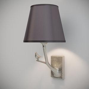 3ds objet insolite plume lamp