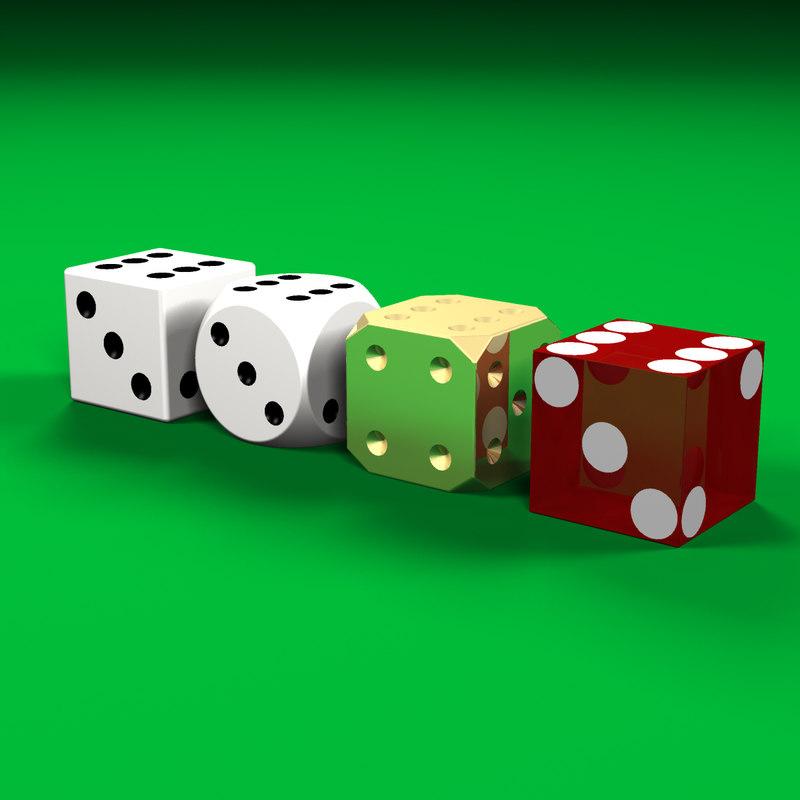 dice set 3d model